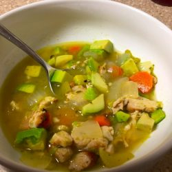 Kevin's Hot Smoked Chicken and Avocado Soup